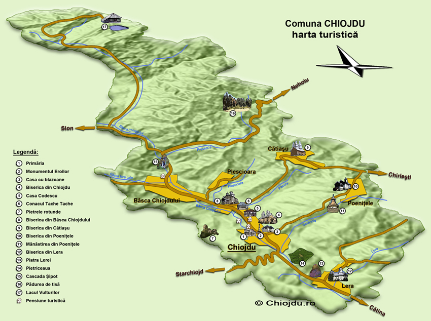 Chiojdu - harta turistica